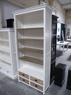 b cherregal regal schrank bibliothek landhausstil landhaus shabby chic wei massiv neu regale. Black Bedroom Furniture Sets. Home Design Ideas