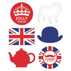 British Party Cutouts - Party Supplies Canada - Open A Party London Theme Parties, British Themed Parties, British Party, London Party, Open A Party, World Thinking Day, Girl Themes, Vintage Party, Vintage Tea