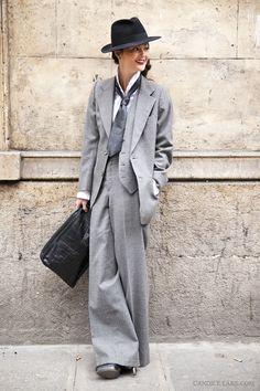Vintage YSL smoking suit.
