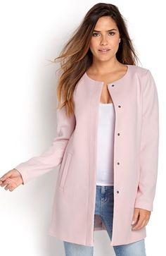 Super fede ONLY Frakke Sidney spring coat Lys rosa fra Halens ONLY Overt?j til Dame til hverdag og fest