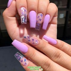 clear acrylic nails that are super trendy right now 18 ~ thereds.me clear acrylic nails that are super trendy right now 18 ~ thereds.me,Nail Designs clear acrylic nails that are super. Acrylic Nail Designs Coffin, Acrylic Nails Stiletto, Purple Acrylic Nails, Long Square Acrylic Nails, French Acrylic Nails, Acrylic Nails Coffin Short, Glitter Nails, Clear Acrylic Nails, Light Purple Nails