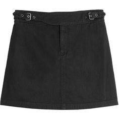 Marc by Marc Jacobs Cotton Mini skirt (€50) ❤ liked on Polyvore featuring skirts, mini skirts, bottoms, black, short cotton skirts, marc by marc jacobs, mini skirt, short mini skirts and slim skirt