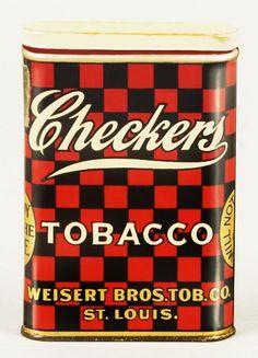Pocket Tobacco Tin - Checkers