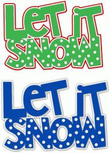 Silhouette Design Store - View Design #70889: let it snow