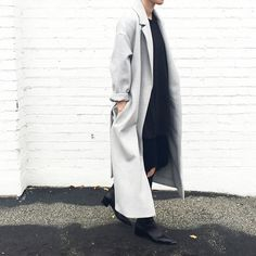 Street Style. Cos Coat and Iro Paris tee. #streetstyle - OVRSLO