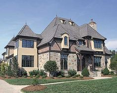 Stately European Tudor home. To look at it, you would not see 6000 sq ft.