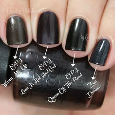 OPI Love Is Hot And Coal Comparison | Holiday 2014 Gwen Stefani Collection Comparisons | Peachy Polish