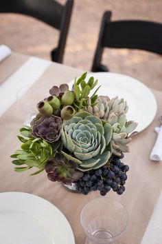Succulents & Grape Arrangement