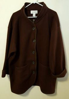 Diane Von Furstenberg The Color Authority Brown Oversized Fleece Jacket M/L #B46 in Clothing, Shoes & Accessories, Women's Clothing, Coats & Jackets | eBay