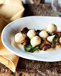 Ricotta Gnudi with Chanterelles Recipe