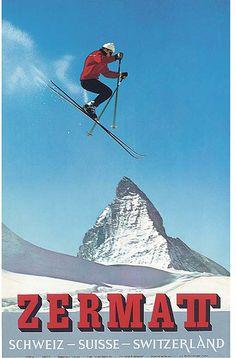 ZERMATT ski poster of August (Gusti) Julen. I was I'm total awe of him as a kid.