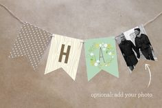 Wooded Blooms Personalizable Bunting Banner by That Girl Press at minted.com
