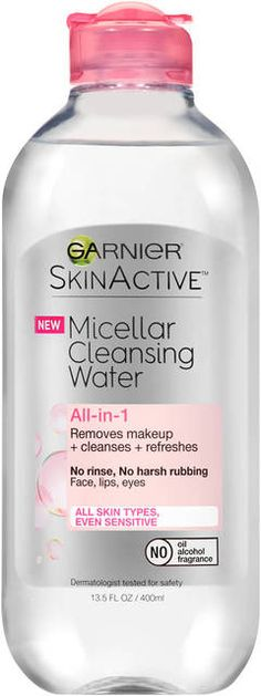 SkinActive Micellar Cleansing Water is surprisingly powerful yet gentle to your skin with Micellar Technology. Like a magnet, micelles capture and lift away dirt, oil and makeup without harsh rubbing, leaving skin perfectly clean and refreshed without over-drying.