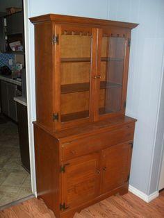 Vintage Ethan Allen Kling Colonial Maple Dresser Bookcase