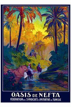 Tunisia: Oasis De Nefta by J. de la Neziere