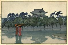 Edo Castle by Hiroshi Yoshida