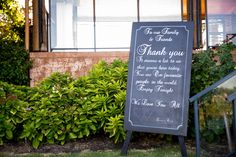 Personalised - Thank you from the Bride & Groom - For Sale @ www.celebrationblackboards.com.au