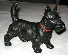 Hubley Antique Cast Iron Doorstop Scotty Dog