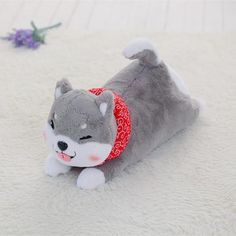 Shiba Inu laying plush from CutesyCrap.com.  Your best shot at owning a shibe that won't have opinions about every little thing you do!  Orders $30+ USD get free shipping!