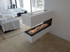 Fireplace Beam, Home Fireplace, Fireplace Design, Contemporary Gas Fireplace, Foyers, New Wall, Home Remodeling, Sweet Home, House Design