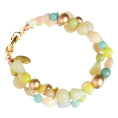 3-Strand Buri Mix Bracelet Aqua Multi by GemVault on Etsy
