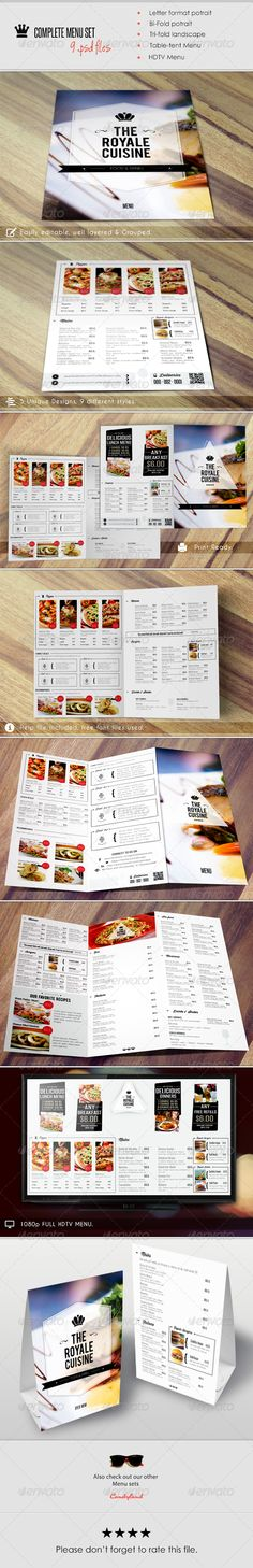 Buy Menu Pack 2 by BadshahDesigns on GraphicRiver. Here's the next version of Menu Pack, while creating this item we kept in mind that it must complete all requirements. Menu Layout, Brochure Layout, Layout Template, Print Templates, Menu Templates, Restaurant Menu Template, Restaurant Menu Design, Menu Card Design, Stationery Design