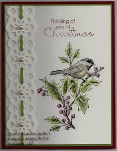 Beautiful Season Lace Border by Diane Vander Galien - Cards and Paper Crafts at Splitcoaststampers