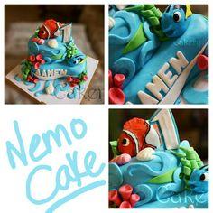 #nemo #sugar #fondant #kids #diy #cute #sea #birthday #cake