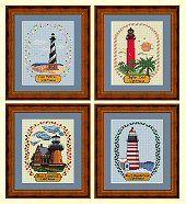 Cross Stitch 4 Seasons Lighthouses