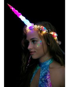J Valentine Unicorn Queen Light-Up Flower Crown Flowers In Hair, Purple Flowers, Color Splash, The Glow Up, J Valentine, Unicorns And Mermaids, Unicorn Costume, Floral Garland, Floral Crowns