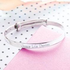 Child's Silver Expanding Bangle - Give a Christening gift that shows they are truly cherished. Thoughtful and original, lots of the products can be personalised as they are created by talented independent designers or small creative businesses.