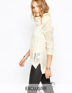 Stitch & Pieces Tunic Jumper with Roll Neck