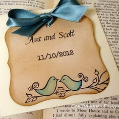 Save the date cards. I like this design for Valentines.