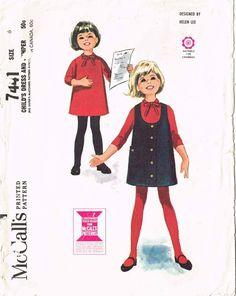 1960s Vintage McCalls Sewing Pattern 7441 Helen Lee Girls Dress and Ju – Vintage4me2