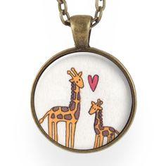 Mother And Baby Giraffe Necklace – CellsDividing