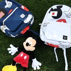 Mickey Mouse + Herschel Supply Co. team up for an adorable collection of backpacks and accessories. | [ https://style.disney.com/fashion/2016/03/15/herschel-mickey/ ]