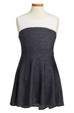 Free shipping and returns on Sally Miller Denim & Lace Skater Dress (Big Girls) at Nordstrom.com. Sweet white lace adds a ladylike touch to a cute denim skater dress cut with a twirl-ready high/low hem.