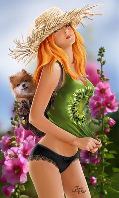 Country girl by Kajenna.deviantart.com on @DeviantArt
