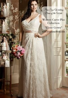 I am all about the old world charm and bringing back lace and a sexy silhouette. So of course this gorgeous plus size wedding gown made me literally drool from it's goodness. But I did a bit more drooling when I saw that it came in sizes 14W-32W. This sophisticated, Lingerie lace, slim sheath…