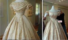 same dress, bertha off and on