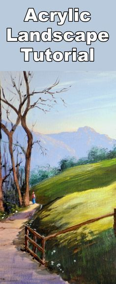 Learn to paint morning landscapes with this acrylic painting tutorial #OilPaintings