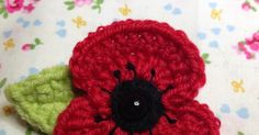 It is that time of year again when we start to see poppies everywhere, in commemoration of Armistice Day. Armistice Day also known as Rem. Knitted Poppy Free Pattern, Crochet Flower Patterns, Knitting Patterns Free, Crochet Flowers, Crochet Ideas, Crochet Projects, Easy Crochet Hat, Crochet Flower Tutorial, Crochet Gifts