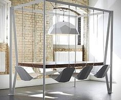 Swinging Chairs Dining Table