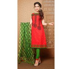 Rich Pink Cotton, Jacquard Casual #Salwar #Kameez