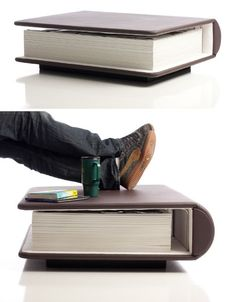 A literal coffee table book.