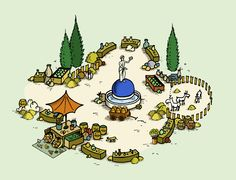 #market place from the game #travians at http://www.travians.com