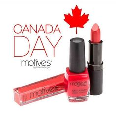 Happy #CanadaDay to our Canadian friends! We're celebrating it with our favorite Motives red lipstick!❤️   Shop Here: http://www.Net2Cosmetics.com