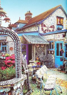 Mosaic house exterior.