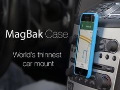MagBak is a minimalist protective case and mounting solution for your iPhone. Perfect to mount in the car and anywhere else!