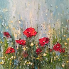 Georgi Petrov June, oil on canvas, cm Floral Watercolor, Watercolor Paintings, Abstract Flowers, Painting Techniques, Diy Art, Flower Art, Amazing Art, Poppies, Alternative